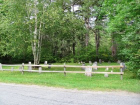 Small, remote cemetery on the East B Hill Road (2010)