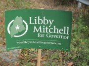 Sign: Libby Mitchell for Governor 2010