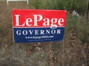 Sign: LePage, Governor 2010
