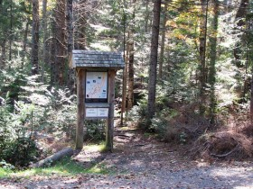 Kiosk and Trail Map at the Center (2010)