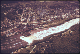 Livermore Falls and its International Paper Chisholm Mill (1973)