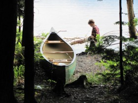 Photo: Canoe and Young Camper (2011)