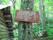Directional Sign at Frye Notch Lean To (2011)