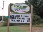 Sign: Town of Roxbury (2011)