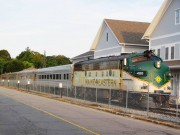 Maine Eastern Railroad at Brunswick Station (2011)