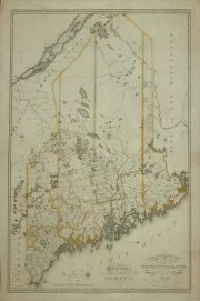 Moses Greenleaf Map of the District of Maine 1815