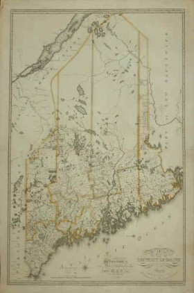 Moses Greenleaf Map of the District of Maine…1815