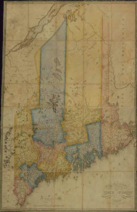 Moses Greenleaf Map of the State of Maine…1820