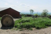 Barn, Hay, and Mt. Katahdin from the Golden Ridge Road (2012)
