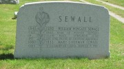 Headstone for William Wingate Sewall in Island Falls Cemetery (2012)