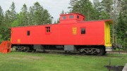BAR, Bangor & Aroostook, Caboose near the Station (2012)