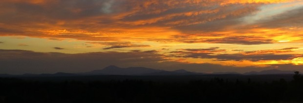 Sunset over Mount Katahdin from the Scudder Road in Sherman (2012)