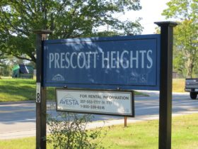 Sign: Prescott Heights in North Berwick (2012)
