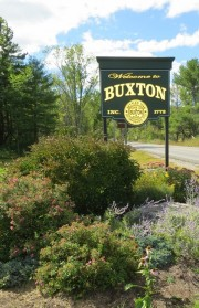 sign: Welcome to Buxton