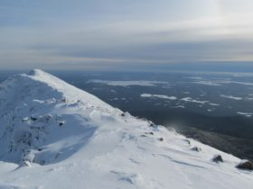 Hiking Katahdin, Baxter Park Winter 2012