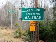 sign: Town Line, Entering Waltham (2013)