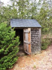 Outdoor Privy behind the old Grange Hall on Route 179 (2013)