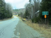sign: Town Line, Entering Osborn, North on Route 179 (2013)