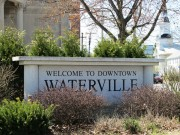 Welcome Sign in Waterville Downtown (2013)