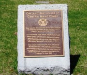 plaque: Oakland Birthplace of Central Maine Power (2013)