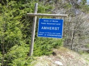 sign: State of Maine, Public Reserved Land, Amherst (2013)