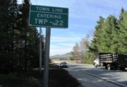 sign: Entering TWP 22 on Route 9