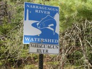 sign: Narraguagus River Watershed on Route 193