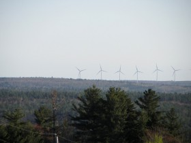 Wind Turbines from a Hill in Beddington on Route 9 (2013)