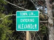 sign: Town Line, Entering Alexander (2013)