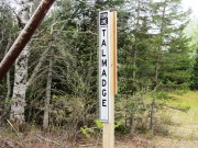 sign: Town Line, Talmadge on the Old Mill Road in Talmadge (2013)