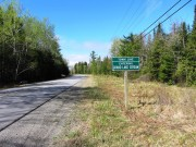 sign: Town Line, Entering Grand Lake Stream