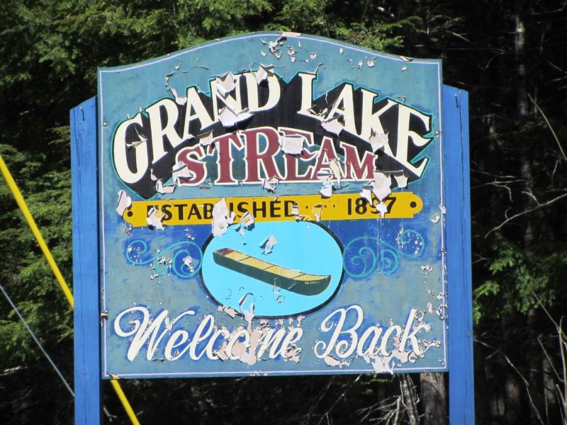 grand lake stream plantation Sign: Grand Lake Stream,