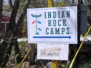 Sign: Indian Rock Camps on the Milford Road (2013)