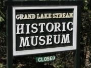 Sign: Grand Lake Stream Historic Museum (2013)