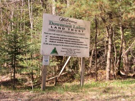sign: Welcome to Downeast Lakes Land Trust (2013)