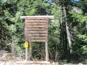 Directional Sign to Lakes in Upper Washington and Hancock Counties (2013)