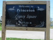 sign: Welcome to Princeton Legacy Square, Settled 1832 (2013)