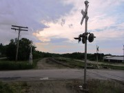 Utility Poles and Railroad Crossing near Route 2 (2013)
