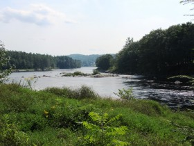Main Channel of the Androscoggin River from Googin's Island (2013)