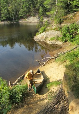 Androscoggin River Canoe Launch Area in Gilead (2013)