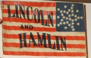 Lincoln-Hamlin Campaign Flag, at the Johnson Hall Museum in Wells (2013)