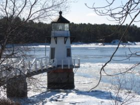 Doubling Point Light on the Kennebec River in Arrowsic (2014)