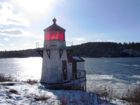 Squirrel Point Light on the Kennebec River in Arrowsic (2014)