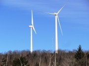Wind Turbines from Route 6 in Lincoln just west of the Lee Town Line (2014)
