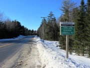 "sign: ""Penobscot County Line, Town Line, Entering Carroll PLT"" on Route 6"