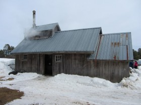 Sugarhouse at Mitchell and Savage Maple Products in Bowdoin (2014)