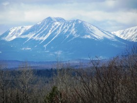 Mount Katahdin from the Grindstone Road  in Herseytown TWP (2014)