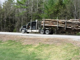 Logging Truck on U.S. Route 201 in Caratunk (2014)
