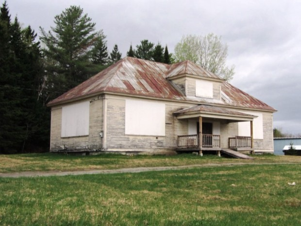 Old Schoolhouse on U.S. Route 201 in Jackman (2014)