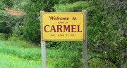 "sign: ""Welcome to Carmel"" (2014)"